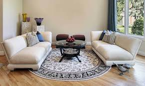 dark round area rug for living room
