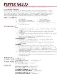 Work History Resume Example Professional Casino Games Dealer Templates to Showcase Your Talent 40
