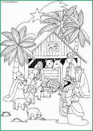 Christmas Nativity Scene Coloring Pages Prettier 26 Best Images