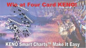 Keno Smart Charts Four Card Keno Charts Use The Best Winning Strategy