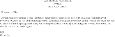 write a notice on tree plantation in  jpg