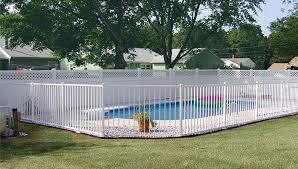 white fence ideas. White Pool Fence Ideas R