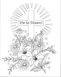 He Is Risen Coloring Page Flanders Family Homelife