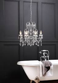 marquis by waterford annalee large led 5 light bathroom chandelier chrome modern bathroom by litecraft