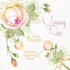 watercolour flower clipart morning rose flowers bouquets diy clip art png transpa wedding invitation