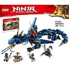 CÓ SẴN lắp ráp lego ninjago ZIMO 4014 Rồng Xanh Stormbringer