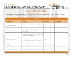 write online case study report writing guide resources case study report casestudy checklist