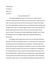 the beautiful struggle essay chris marshall prof morkun english  7 pages the lathe of heaven essay