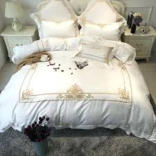 white and gold duvet covers rose