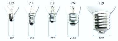 light bulb bases is a candelabra base medium e12 size