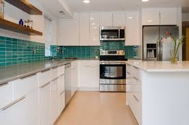 Most Wonderful White Wooden Floating Kitchen Cabinet Connected