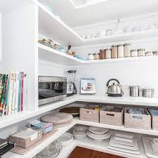 Pantry with Wraparound Shelves