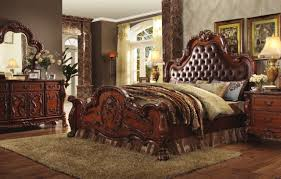 traditional bedroom furniture. Dresden Bedroom In Cherry Oak 23140 By Acme W/Options Traditional Furniture Depot