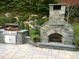 awesome outdoor fireplace kits masonry fireplaces intended for stone