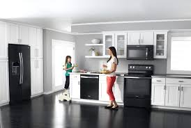 white kitchen black appliances today s appliance colors and finishes whole supply grey kitchen white cabinets black appliances
