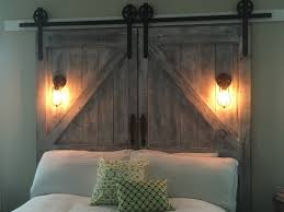 er and better diy barn door headboard and faux barn door track hardware