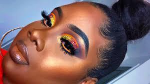 dramatic sunset makeup tutorial makeup for black women