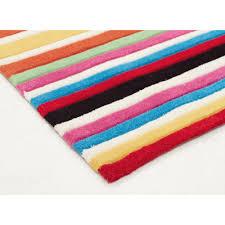 teen multi coloured stripe floor rug close image