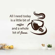 See more ideas about jesus, coffee with jesus, quotes. Wall Decals Quote Coffee Jesus Kitchen Decal Cafe Vinyl Sticker Home Decor Stickers Home Decor Home Decorwall Decals Quotes Aliexpress