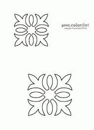 Free Quilting Stencils | Hawaiian quilt stencil | Print. Color ... & Free Quilting Stencils | Hawaiian quilt stencil | Print. Color. Fun! Free  printables Adamdwight.com