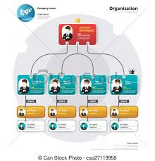 Chart Organization Design Organization Chart Coporate Structure Flow Of Organizational Vector Illustration