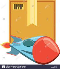Boat Rocket Launcher Design Rocket Launcher With Box Vector Illustration Design Stock
