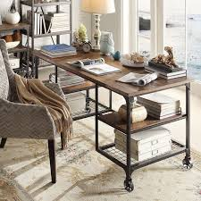 inspire q nelson modern rustic storage desk ping great deals on