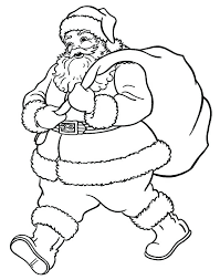 Santa Claus Coloring Pages For Toddlers Walking To Good Kid House