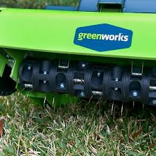 the green works the greenworks 27022 is one of the best dethatchers of 2018