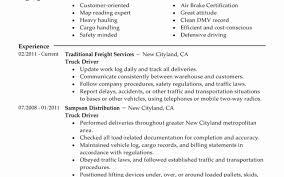 Truck Driving Resume Sample Best Truck Driver Resume Example