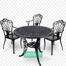 table chair wrought iron garden