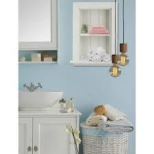 w wood bathroom recessed wall shelf
