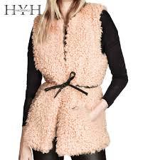 <b>HYH HAOYIHUI</b> Sleeveless Coat Woman <b>2018 Autumn</b> Faux Wool ...