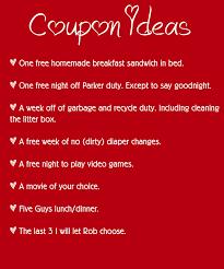 Ideas For Boyfriend Coupons Coupon Book Ideas For Hashtag Bg