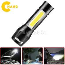 Đèn pin mini siêu sáng T1 3 chế độ sáng, chống nước, kèm hộp + cáp sạc