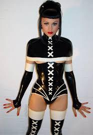Torture of latex women