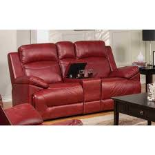 cortez power reclining leather loveseat 22 244 23 red image 1