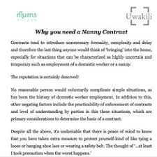 Nanny Contract Rocket Lawyer Interview Nannying Childcare