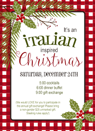 Christmas Invitation Card Italian Christmas Holiday Invitation Jennifer Caminiti Photo Events