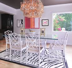 Lucite Dining Table Dining Room Eclectic with Abstract Art Beach House