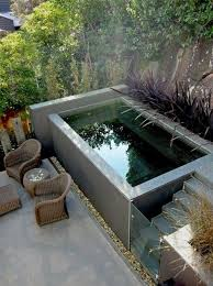 Swimming Pool Design: Small Backyard Pool And Dining Areas - Outdoor Pools