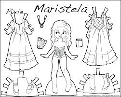 Paper Dolls Coloring Pages Lady In A Castle A Paper Doll Coloring