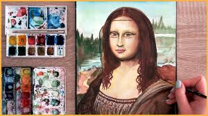 painting the mona lisa
