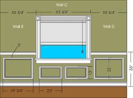 fig 2 this is a head on view of walls b c and d showing the dimensions we calculated and how they relate to the walls in our fictional room