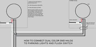 halo wiring faq oracle lighting how to connect dual color smd halos to parking lights and flush switch diagram led halo wiring diagram