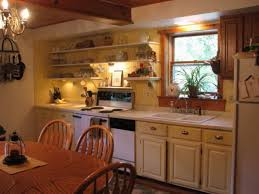 Drop In Farmhouse Kitchen Sink Single Hung Window With Double Drop In Sink Feat Floating Shelves