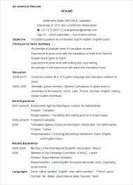 Us Resume Template Inspiration Resume Examples Microsoft Word Sample Resume Word Free Internship