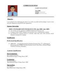 Pharmacist Sample Resume Sample Of Resume Format For Job Application Application Format