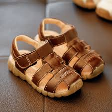 <b>Children</b> Sandals <b>2016 Summer</b> New Arrival Leather Pure Color ...