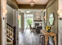 Entryway Design. Beautiful With Dark Stained ...